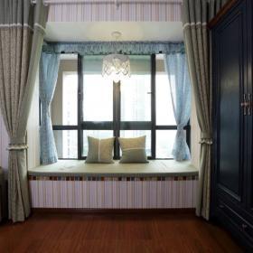 美式風格臥室窗戶設計圖片