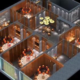 装修主餐厅饭店3D图片设计