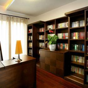 四海逸家中式设计书房飘窗图片