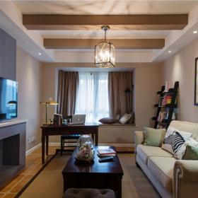 106平美式公寓客廳設計