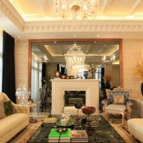 137平摩洛哥風格別墅客廳設計