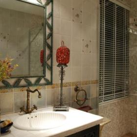 美式鄉村風格衛生間洗手盆裝修