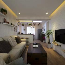 中式家装沙发电视墙效果图欣赏