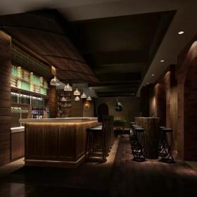 酒吧室内设计 酒吧吧台装修效果图