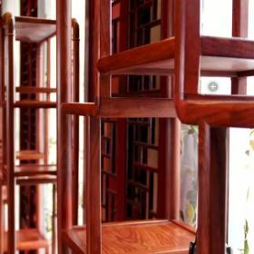 中式實木博古架設計圖