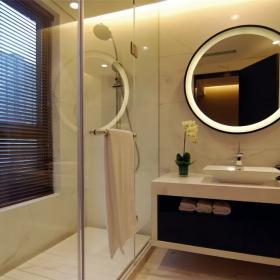 衛生間浴室鏡瓷磚裝修效果圖