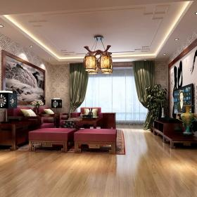 中式客厅装修效果图 中式风格装修图片