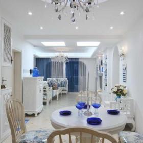 93平地中海风情设计餐厅图片