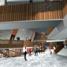 现代图书馆装修图