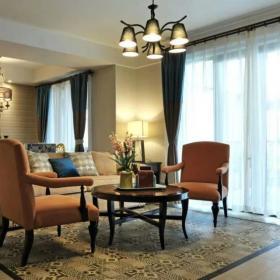 客厅沙发窗帘装修图片