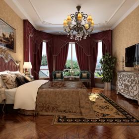 歐式臥室窗簾設計