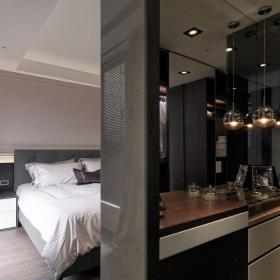 美式四居臥室背景墻室內裝飾設計