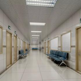 医院室内走廊装修效果图