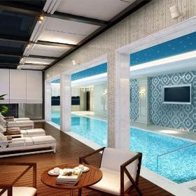 碧海會所泳池設計圖片
