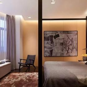 现代中式卧室壁纸背景墙图片