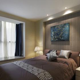 摩登现代卧室床头背景墙设计