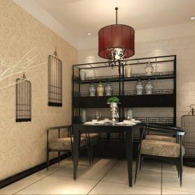 中式餐廳博古架效果圖片