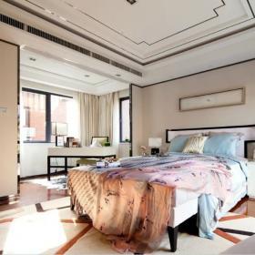 臥室床上用品中式家裝效果圖
