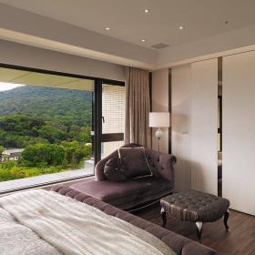 現代簡約臥室飄窗設計裝修風格