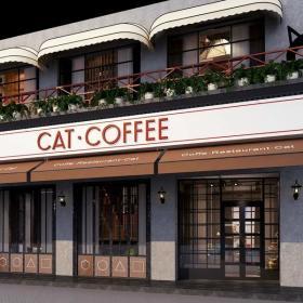 咖啡廳門面裝修效果圖