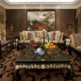 别墅新中式风格客厅设计