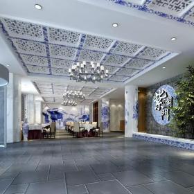 紫澜门饭店大厅设计效果图