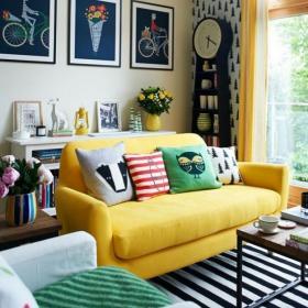 93平米时尚混搭风格室内装修设计图片