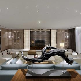 四居室豪華客廳設計欣賞