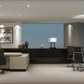 中式老板辦公室設計圖
