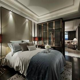 卧室背景墙中式家装效果图