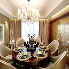 140平歐式風格豪華別墅餐廳背景墻設計