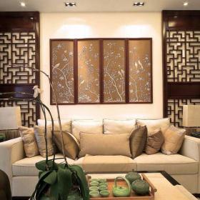 古典中式客廳背景墻裝飾圖