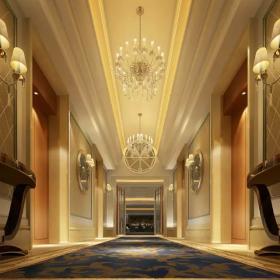 高级会所走廊装饰效果图