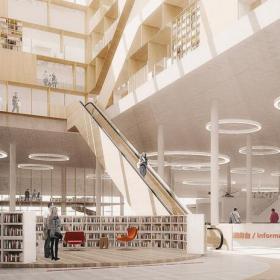 美式图书馆装修图