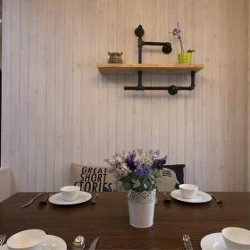 中式家装餐厅背景墙设计效果图