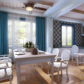 地中海家庭餐廳裝修設計圖