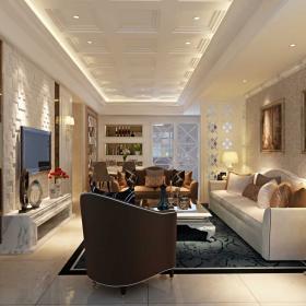 两居室欧式风格客厅设计