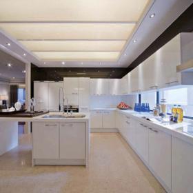 簡歐奢華四居室設計廚房整體櫥柜設計