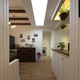 中式家装过道吧台设计效果图