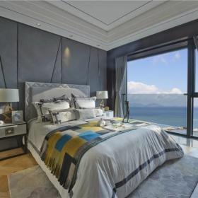 简约中式设计卧室效果图