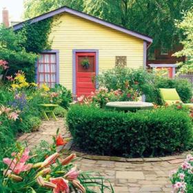 庭院小花園設計效果圖 花園