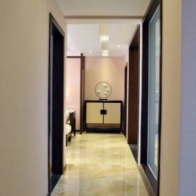 86平新中式客廳過道效果圖