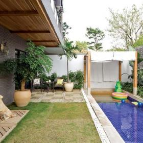 別墅庭院花園設計效果圖 花園