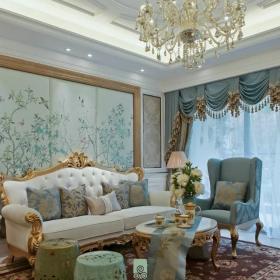 客厅背景墙沙发布置装修图片