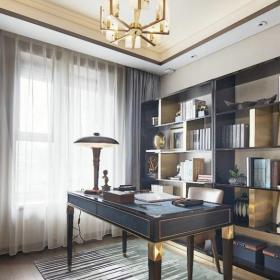 歐式奢華書房精致三居室設計書房圖片