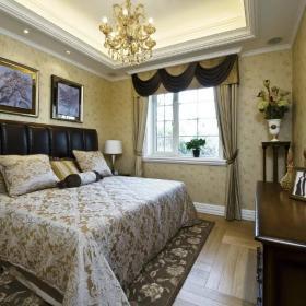 时尚欧式风格卧室墙壁装饰效果图