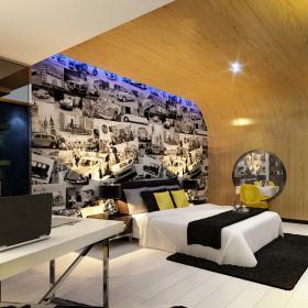 酒店卧室背景墙效果图