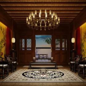 古典会所室内吊顶设计
