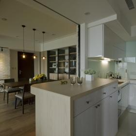 現代簡約四居室廚房設計