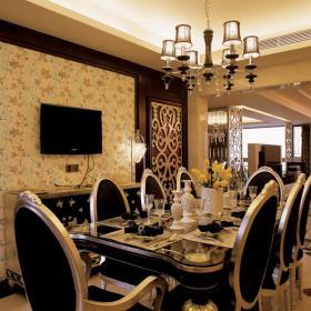 115平欧美风情奢华餐厅装饰效果图